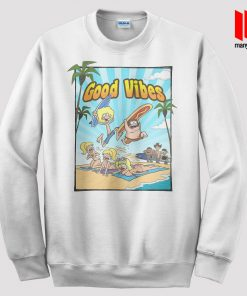 Good Vibes Surfing Party Sweatshirt