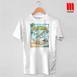 Good Vibes Surfing Party T Shirt is the best and cheap designs clothing