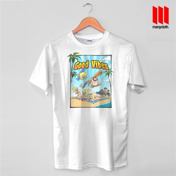 Good Vibe Surfing Party White Tshirt 600x600 Good Vibes Surfing Party T Shirt is the best and cheap designs clothing