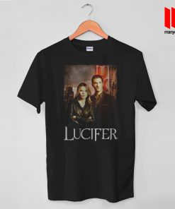 Lucifer - The Devil And The Cop T Shirt is the best and cheap designs clothing