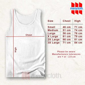 Size Chart TankTop 300x300 Stay Weird Quote Tank Top Unisex