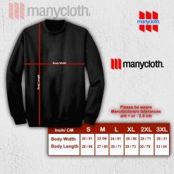 Sweatshirt size chart manycloth
