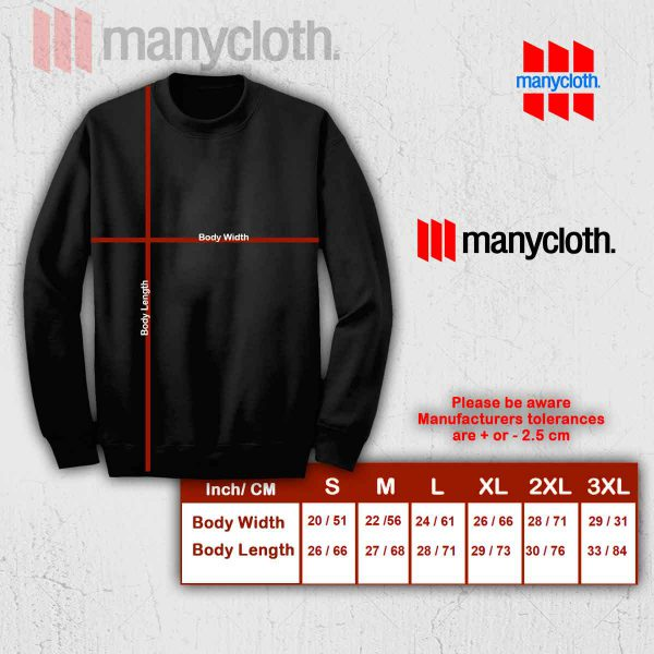 Sweatshirt size chart manycloth 600x600 The Pug Life Sweatshirt