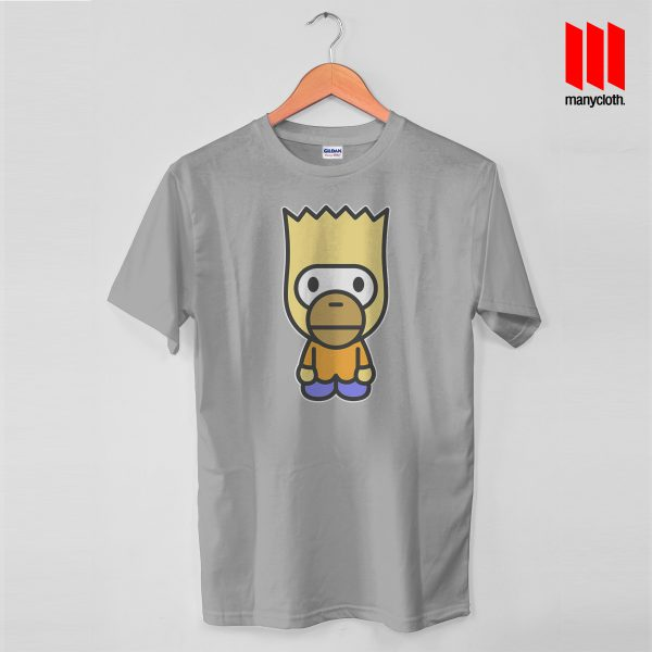 Baby Bart Mile Gray Tshirt 600x600 Baby Bart Mashup T Shirt is the best and cheap designs clothing