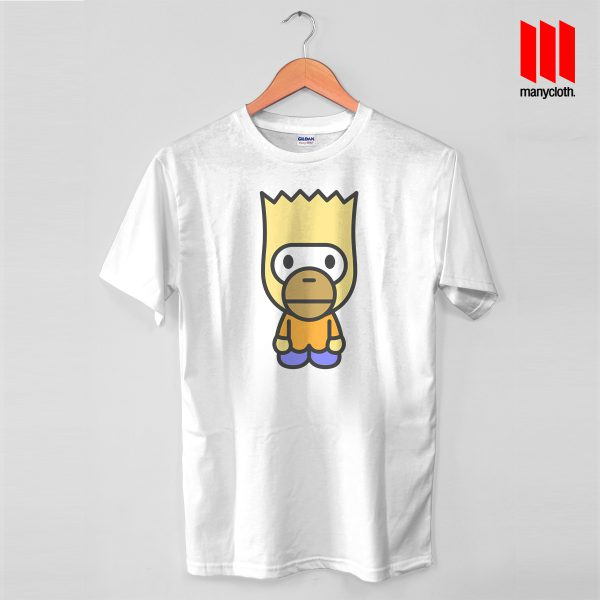 Baby Bart Mile White Tshirt 600x600 Baby Bart Mashup T Shirt is the best and cheap designs clothing