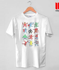 Haring Heroes T Shirt is the best and cheap designs clothing