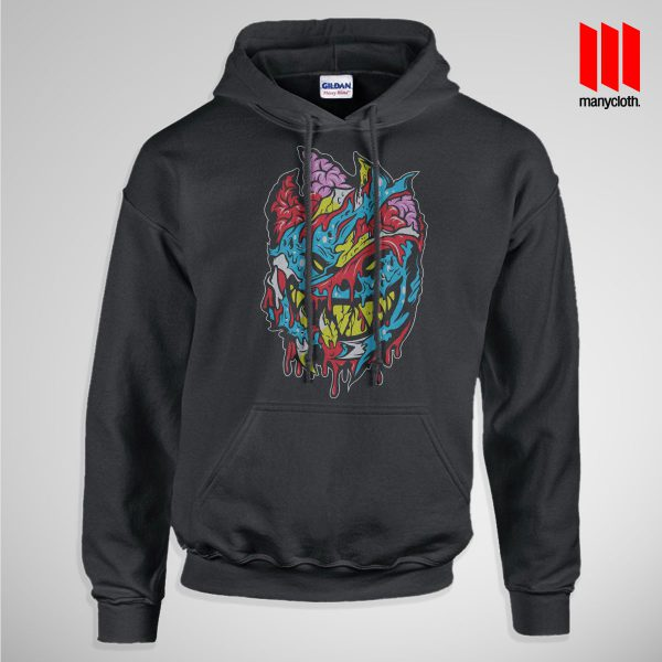 Bloody Brainie Monster From Hell Pullup Hoodie Black 600x600 Bloody Brain Monster Hoodie is the best and cheap designs clothing for gift