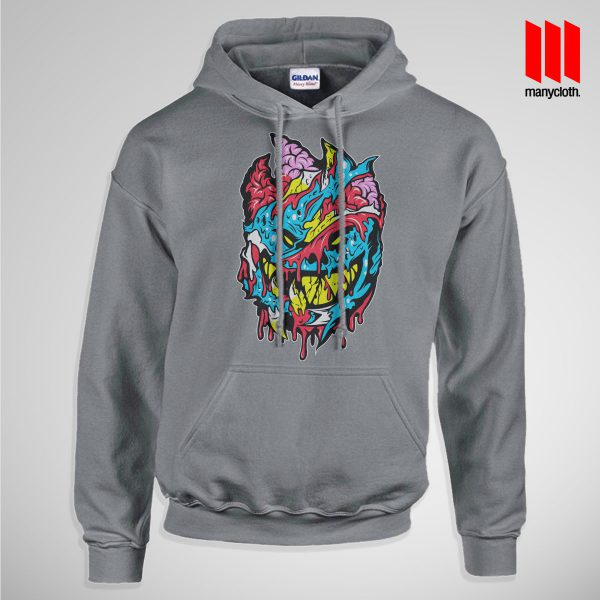Bloody Brainie Monster From Hell Pullup Hoodie Gray 600x600 Bloody Brain Monster Hoodie is the best and cheap designs clothing for gift