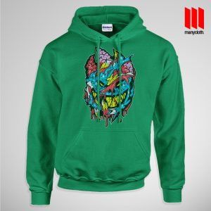 Bloody Brainie Monster From Hell Pullup Hoodie Green 300x300 Bloody Brain Monster Hoodie is the best and cheap designs clothing for gift