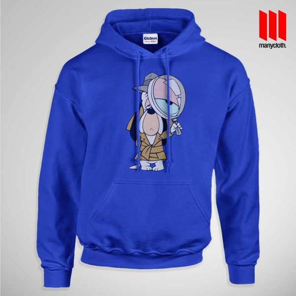 Dog Detective Pullup Hoodie Blue 600x600 Dog Detective Hoodie is the best and cheap designs clothing for gift