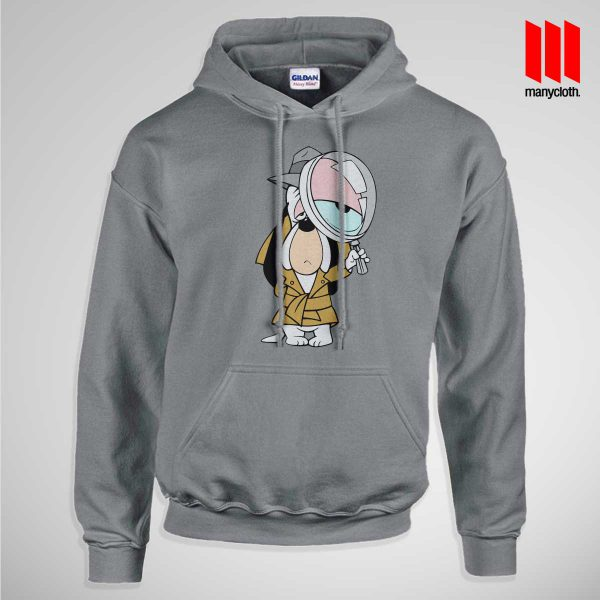 Dog Detective Pullup Hoodie Gray 600x600 Dog Detective Hoodie is the best and cheap designs clothing for gift