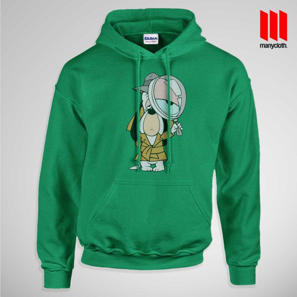 Dog Detective Pullup Hoodie Green 600x600 Dog Detective Hoodie is the best and cheap designs clothing for gift
