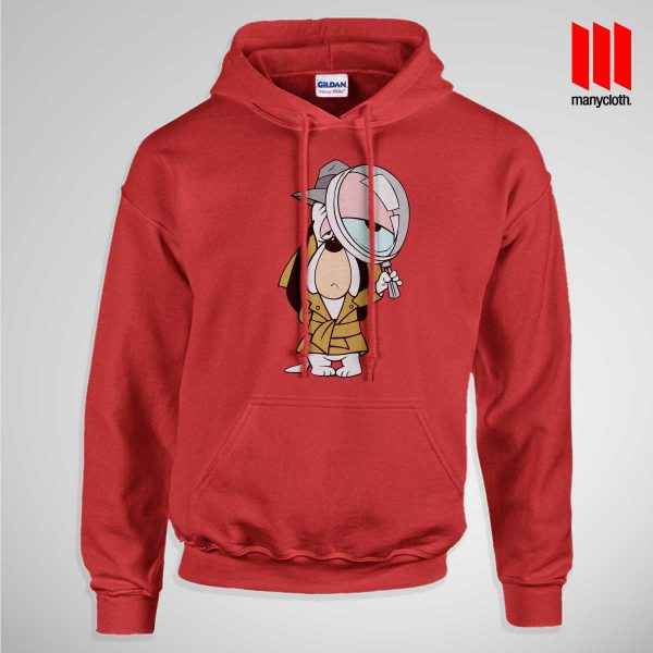 Dog Detective Pullup Hoodie Red 600x600 Dog Detective Hoodie is the best and cheap designs clothing for gift