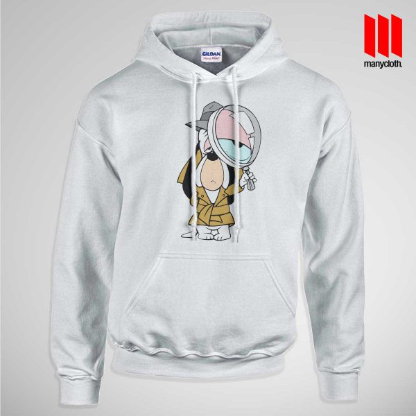 Dog Detective Pullup Hoodie White 600x600 Dog Detective Hoodie is the best and cheap designs clothing for gift