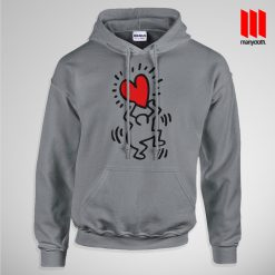 Haring Heart Hoodie is the best and cheap designs clothing for gift