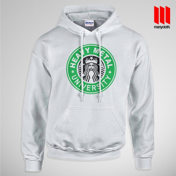 Heavy Metal University Pullup Hoodie White 600x600 Heavy Metal University Hoodie is the best and cheap designs clothing for gift