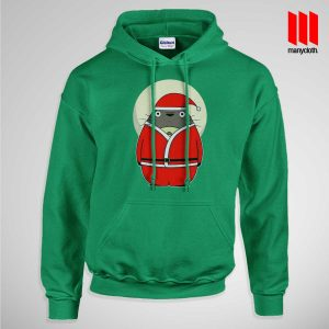 Santa Totoro Pullup Hoodie Green 300x300 Santa Totoro Hoodie is the best and cheap designs clothing for gift