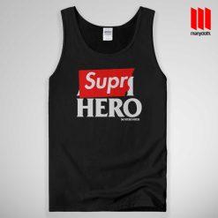 Supre Hero Black Tank Top Unisex