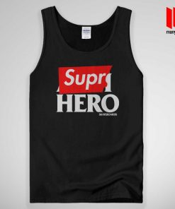 Supre Hero Black Tank Top Unisex