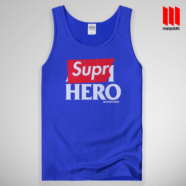 Supre Hero Tank Top Blue 600x600 Supre Hero Black Tank Top Unisex