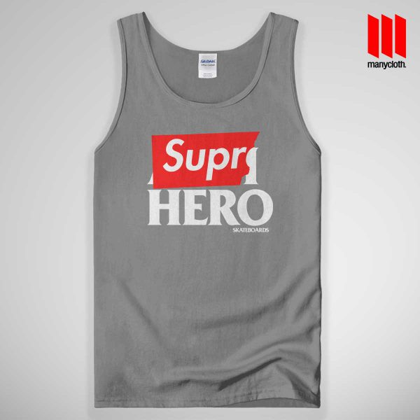 Supre Hero Tank Top Gray 600x600 Supre Hero Black Tank Top Unisex