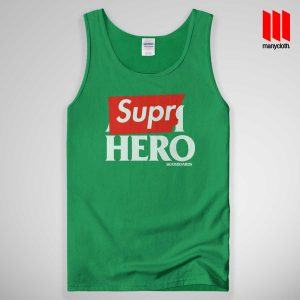 Supre Hero Tank Top Green 300x300 Supre Hero Black Tank Top Unisex