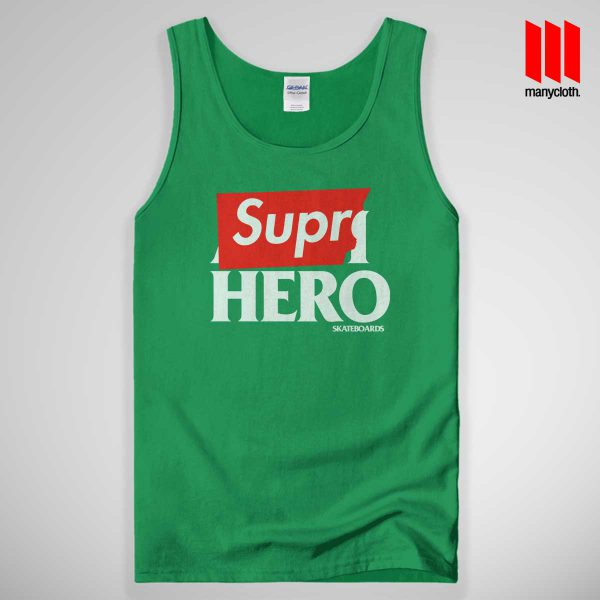 Supre Hero Tank Top Green 600x600 Supre Hero Black Tank Top Unisex