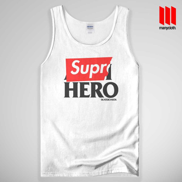 Supre Hero Tank Top White 600x600 Supre Hero Black Tank Top Unisex