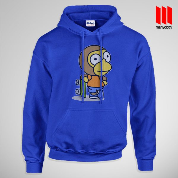 The Coolest Skater Monkey Pullup Hoodie Blue 600x600 Coolest Skater Monkey Hoodie is the best and cheap designs clothing for gift