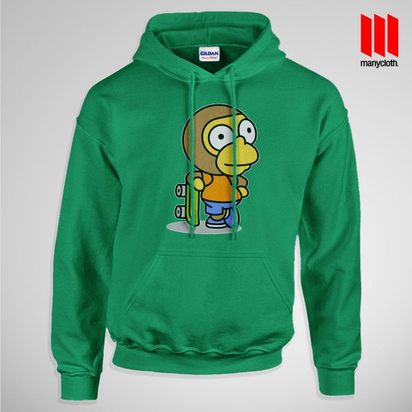 The Coolest Skater Monkey Pullup Hoodie Green 600x600 Coolest Skater Monkey Hoodie is the best and cheap designs clothing for gift