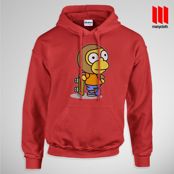 The Coolest Skater Monkey Pullup Hoodie Red 600x600 Coolest Skater Monkey Hoodie is the best and cheap designs clothing for gift