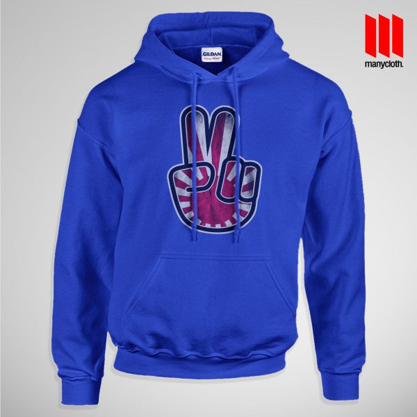 Victory For Japan Pullup Hoodie Blue 600x600 Victory For Japan Hoodie is the best and cheap designs clothing for gift