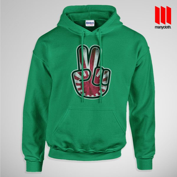 Victory For Japan Pullup Hoodie Green 600x600 Victory For Japan Hoodie is the best and cheap designs clothing for gift