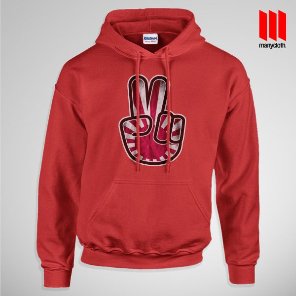 Victory For Japan Hoodie is the best and cheap designs clothing for gift