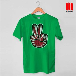 Victory For Japan T Shirt Green 300x300 Victory For Japan T Shirt is the best and cheap designs clothing for gift