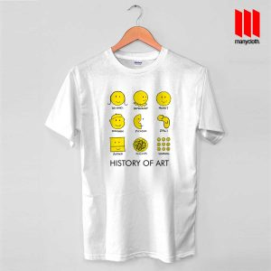 History Of Art Smiley Face T Shirt