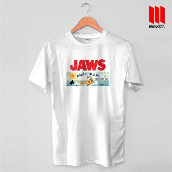 JAWS AMITY ISLAND Billboard 600x600 JAWS AMITY ISLAND Billboard T Shirt