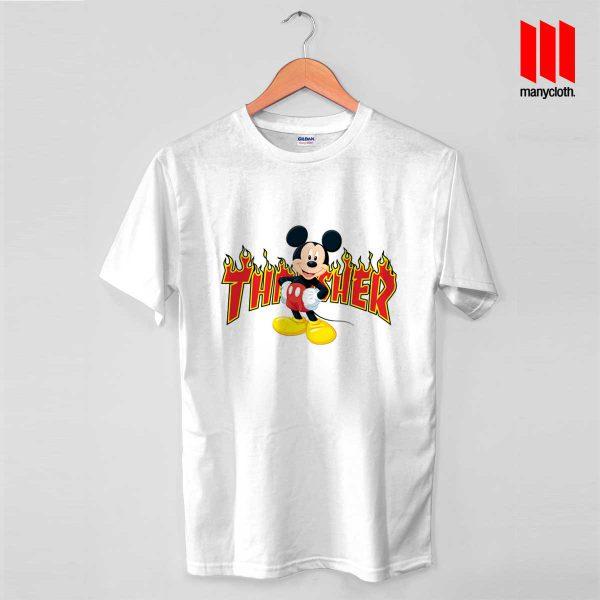 Mickey Mouse X Thrasher Parody T Shirt