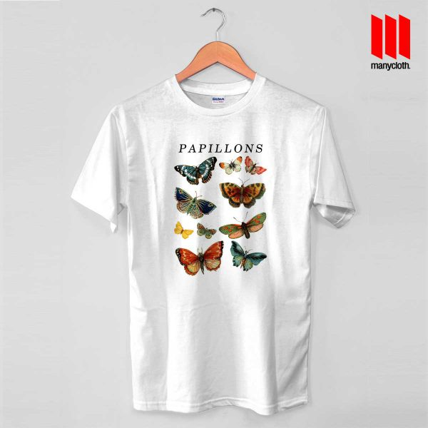 Papillons Butterfly Vintage T Shirt