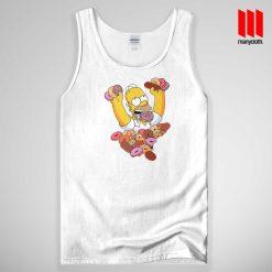 Homer Simpson Donut Tank Top Unisex