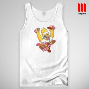 Homer Simpson Donut Tank Top Unisex