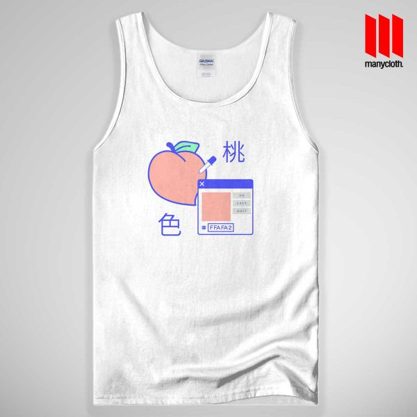 Peach Digital Tank Top Unisex