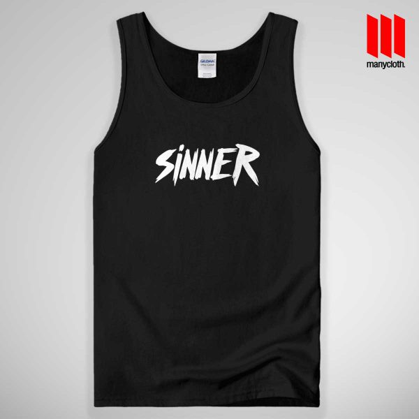 Sinner Quote Band Tank Top Unisex