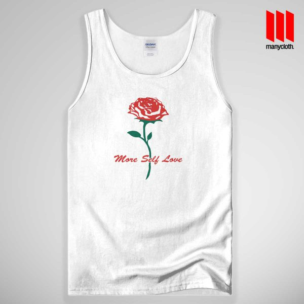 Rose More Self Love Quote 600x600 Rose More Self Love Quote Tank Top Unisex