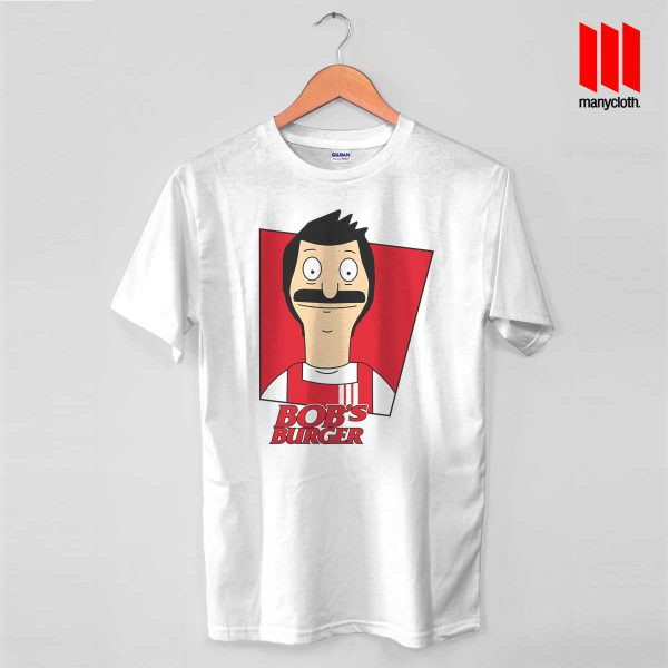 Bobs Burger KFC White T Shirt 600x600 Bob's Burger Fried Chicken T Shirt