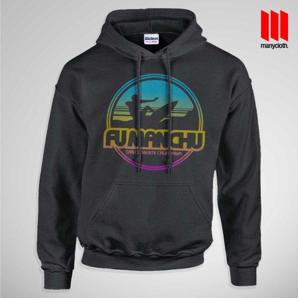 Fu Manchu San Clemente Surf Band Black Pullup Hoodie 600x600 Fu Manchu San Clemente Surf Band Hoodie
