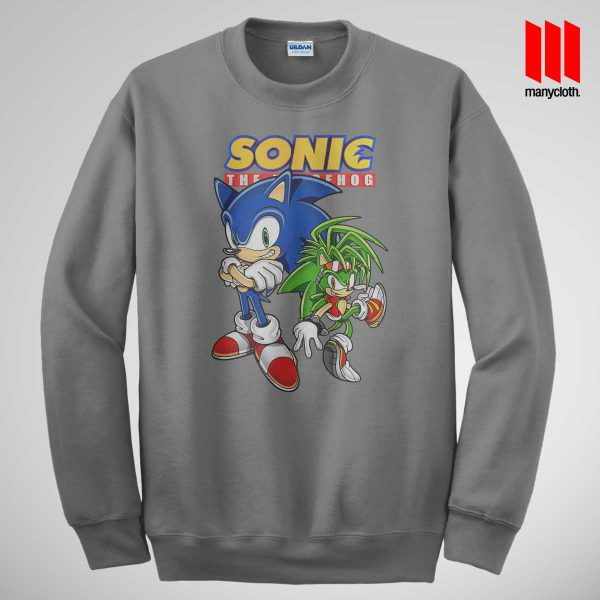 Sonic The Hedgehog Grey Sweatshirt 600x600 Sonic The Hedgehog Sweatshirt
