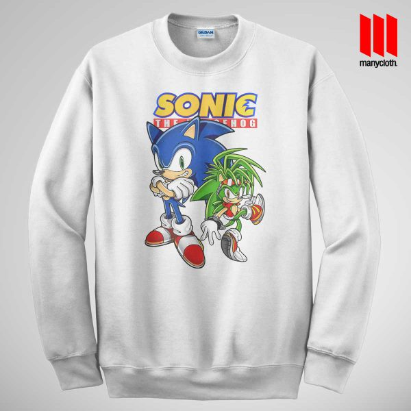 Sonic The Hedgehog White Sweatshirt 600x600 Sonic The Hedgehog Sweatshirt