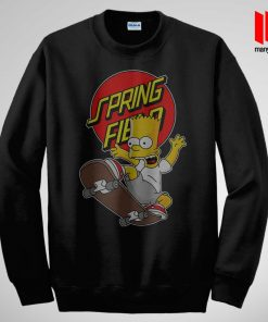 The Simpsons Skateboarding Sweatshirt