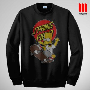 The Simpsons Skateboarding Sweatshirt is the best and cheap designs clothing for gift